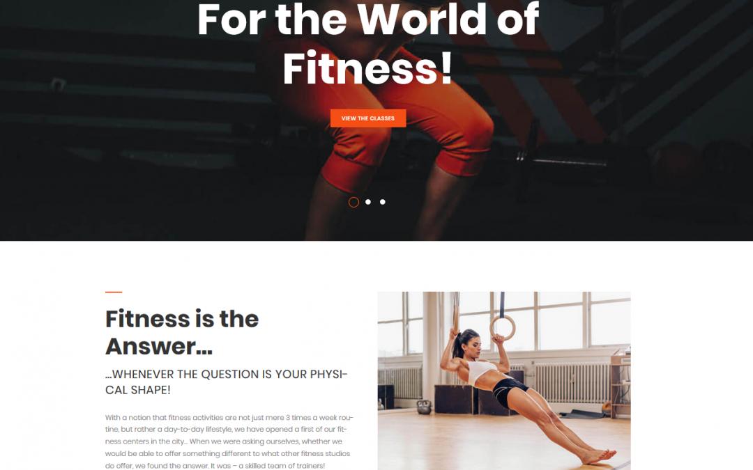 modele de site Fitness