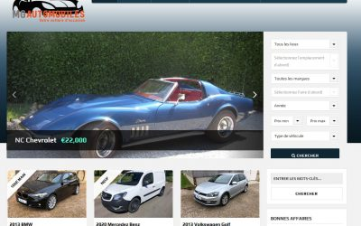 Création d'un site de vente de véhicules : garage-mga.fr