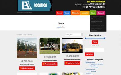 Création d'un site de e-Commerce : Locanim.com