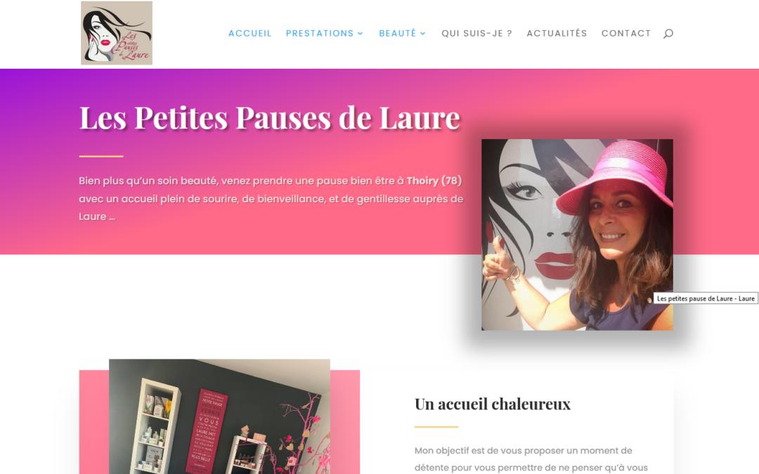 Création d'un site internet pour un institut pose d'ongles